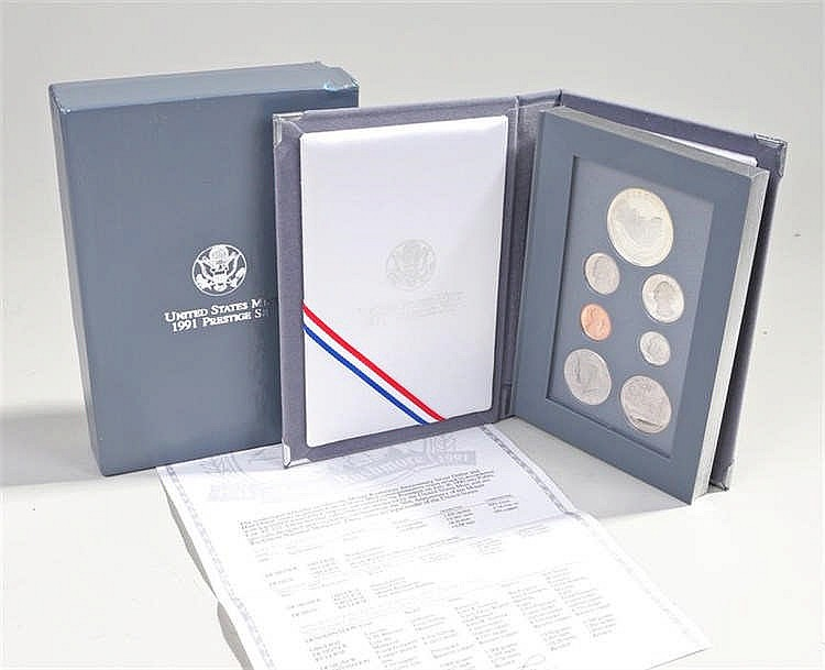 USA Mount Rushmore anniversary 1991 coin set of book form - Stock Ref:4793-