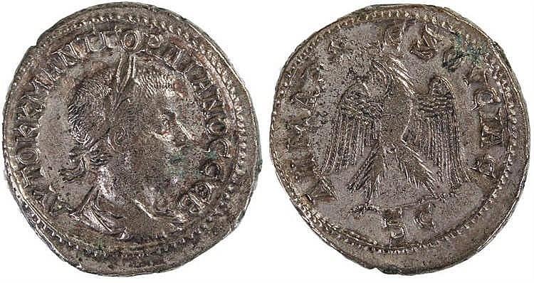 Gordian III Tetradrachm, 240AD, Antioch provincial. Obverse: Laureate bust