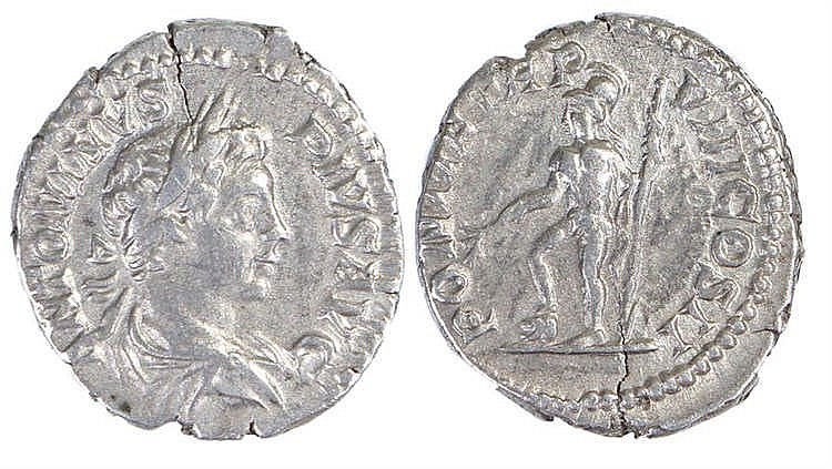 Caracalla Roman Denarius, 204, Mars STG I, RIC 80 - Stock Ref:3446-26