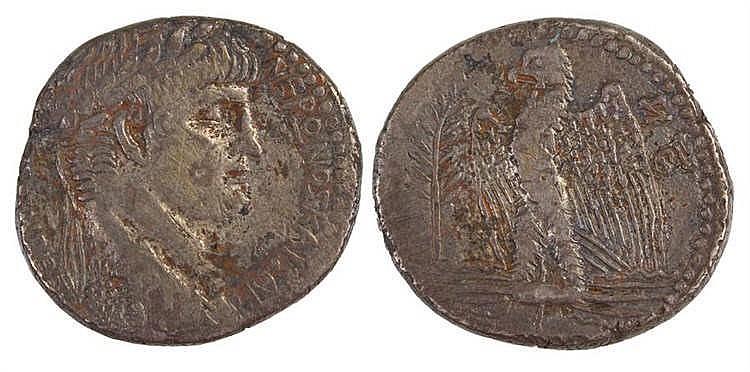 Nero Tetradrachm, 60/61 AD, Antioch provincial, Obverse: Laureate bust of N