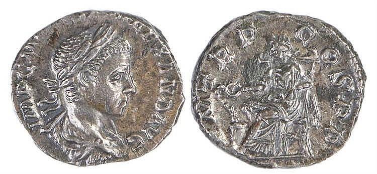 Severus Alexander Roman Denarius, 222, Salus Sta I, RIC 14 - Stock Ref:3446