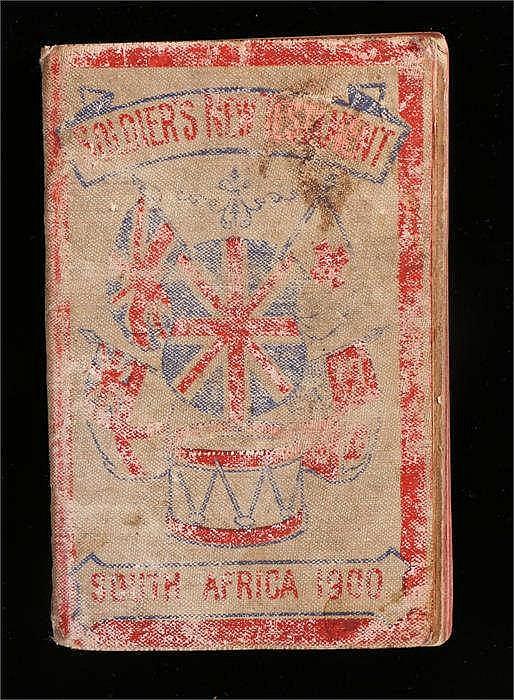 Boer War interest, South Africa Last testament 1900, pencil inscription -