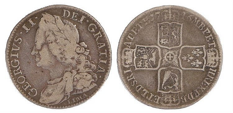 George II Half Crown, 1746, Lima below bust - Stock Ref:2315-45