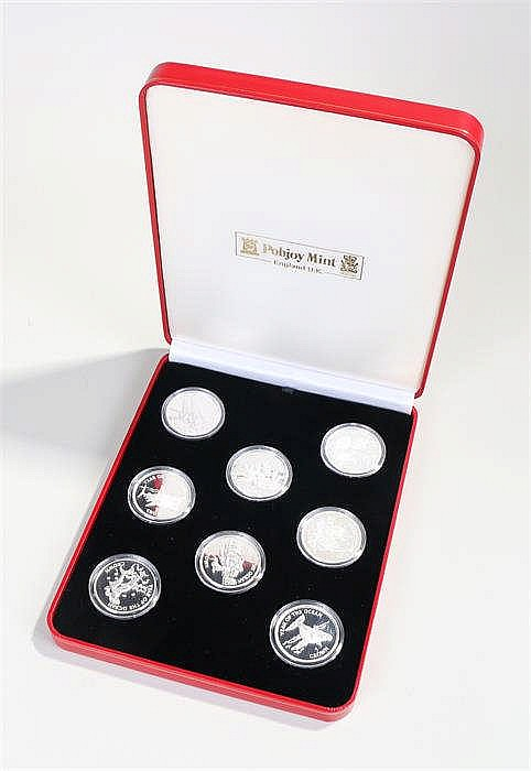 Pobjoy mint Crown collection, Year of the Ocean, eight coins in capsules, c