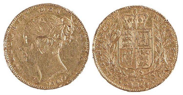Victoria Sovereign, 1847, Shield back - Stock Ref:1972-22