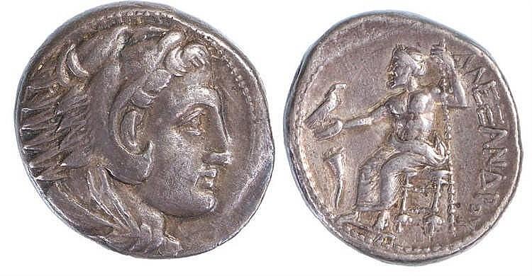 Alexander the Great Tetradracm, 336-323 B.C. Zeus seated, eagle and sceptre