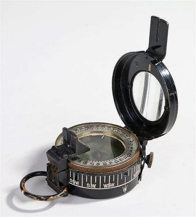 World War Two pocket compass Mk III made by T.G. Co Ltd London, model numbe