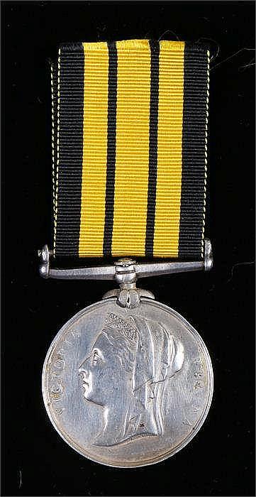 Victorian Ashanti medal to W.G.H Webber DOM 2 CL. HMS Rattlesnake 73.74 - S