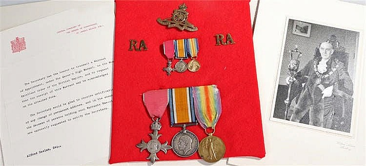 British War Medal and Victory medals with civil MBE to 61591 GNR A Haskam R