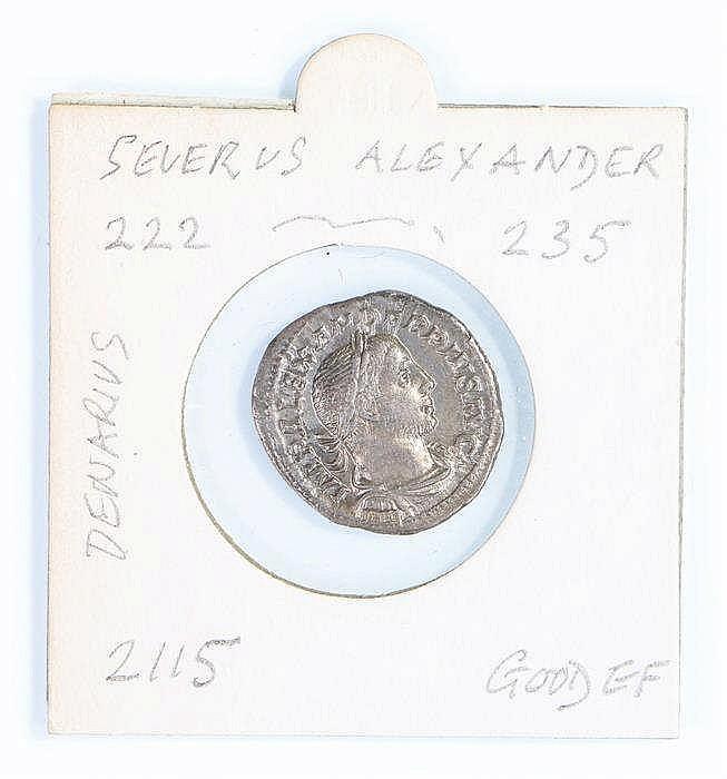 Severus Alexander Roman Denarius, 222-235 - Stock Ref:4375-9