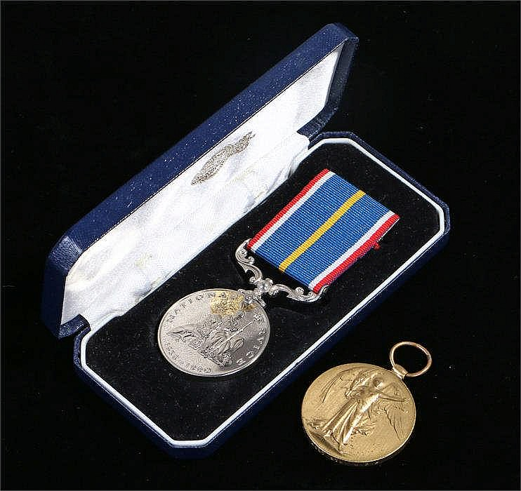 World War One victory medal awarded to A.E. Kelham asst std M.F.A together