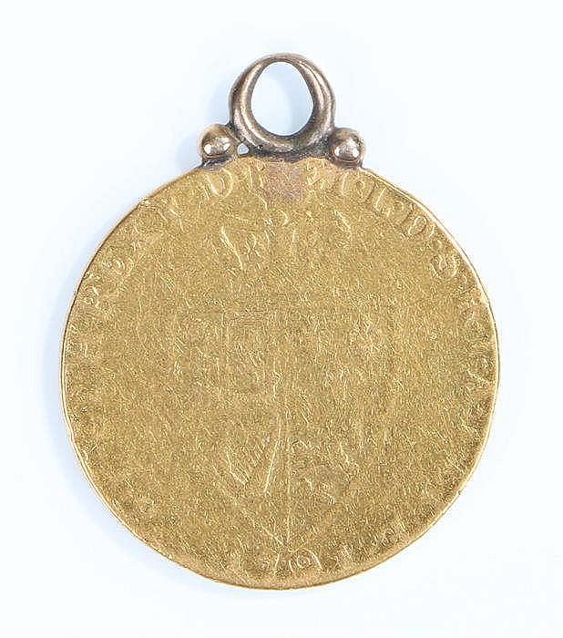 George III Guinea, 1791, Shield back, pendant mounted - Stock Ref:4964-6