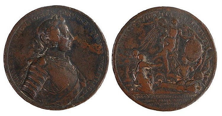 Commemorative medallion; Frederick the Great. Obverse Legend: FRIDERICVS MA