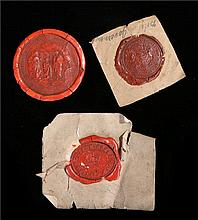 Three wax impressions to include an early 19th century impression for the S