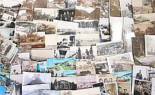Postcards, to include a bomb site, British villages and towns, France, etc,