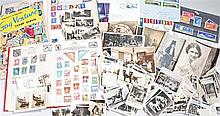 Collection of cigarette cards, postcards and stamps (qty) - Stock Ref:4793-