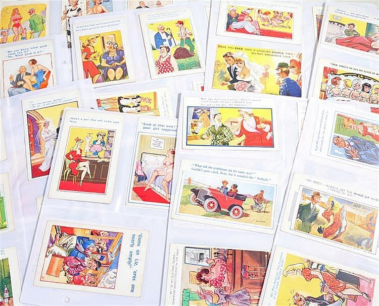 Postcard collection, all humorous examples, to include Bamforth Comic, Bash