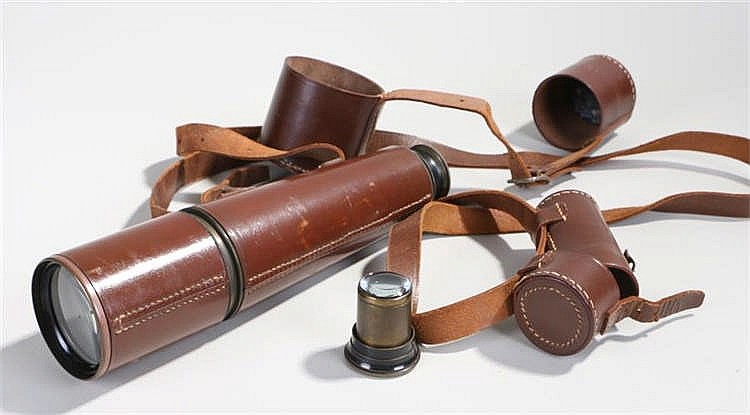 Dollond Signalling telescope, the leather cased telescope with