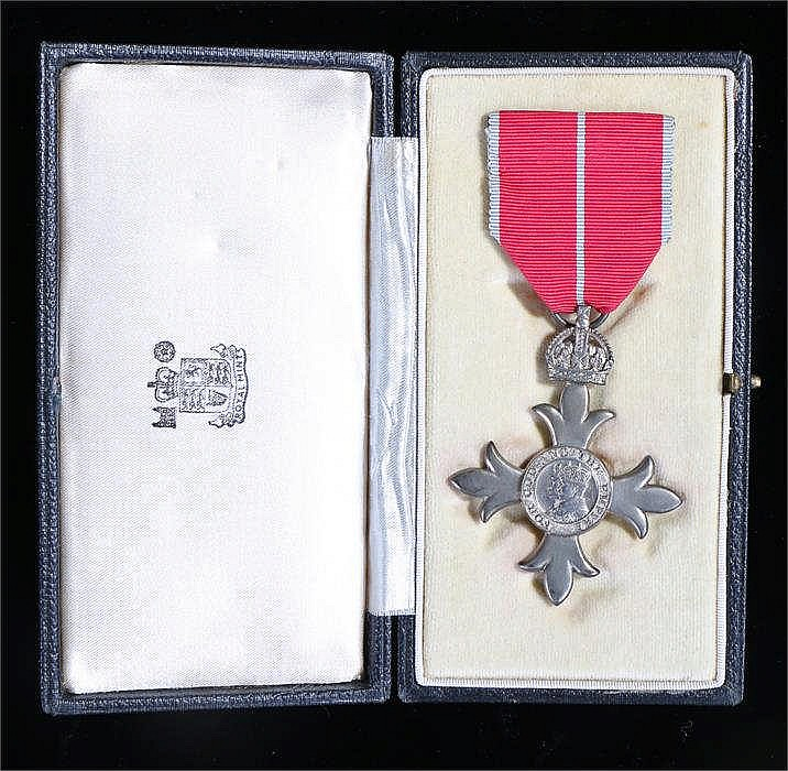 Military M.B.E. The Most Excellent Order of the British Empire, cased. By f