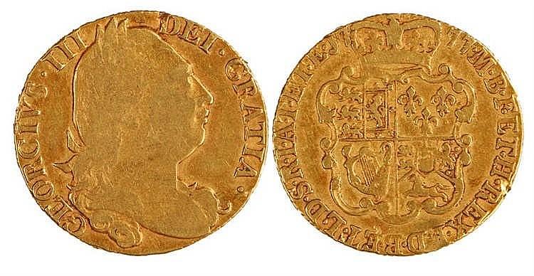 George III Guinea, 1777, Shield back - Stock Ref:2315-58