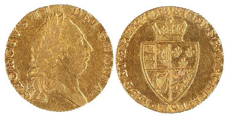 George III Guinea, 1791, Shield back - Stock Ref:2315-57