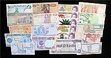 Banknotes, a collection of Middle East banknotes, Iraq, Iran, Egypt, Libya