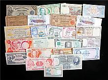 Banknotes, World banknotes to include Nigeria, Zimbabwe, Liberia, Bhutan, I