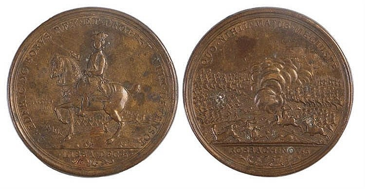 Frederick the Great Lissa and Rossbach Campaign Medal, 1757 - Stock Ref:314