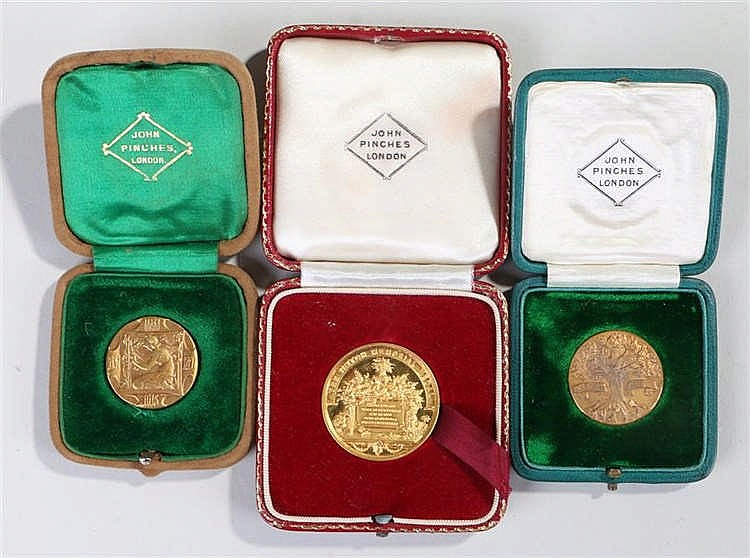 Royal Horticultural Society medals, named to Amos Perry for 1927 and 1934,