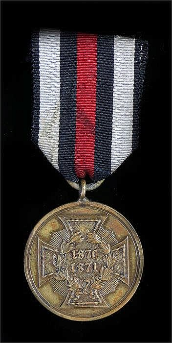 Prussian war service medal 1870-71 for the war with France - Stock Ref:4154