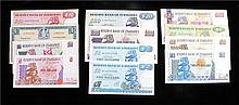 Banknotes, Reserve Bank of Zimbabwe, $2 to $500 1994 to 2001, together with