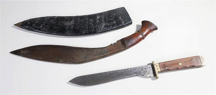 Kukri and scabbard by J.D Pensioner and Sons made in Kotli Loharan with woo