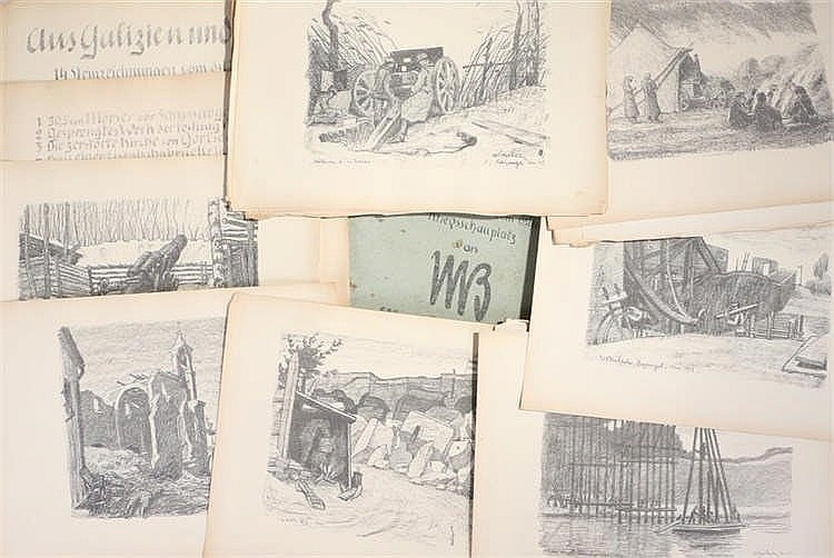After Max Bucherer, Aus Galizien und Polen, a folio book of his First World