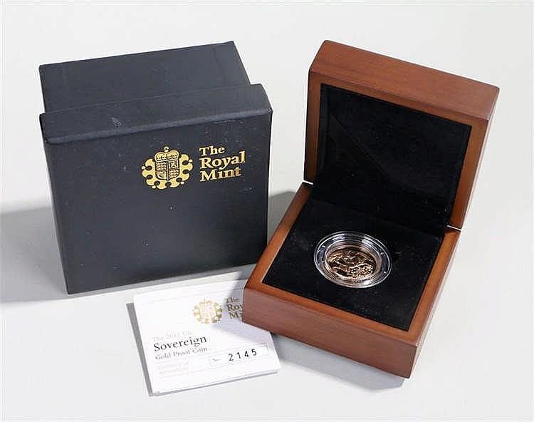 Elizabeth II Proof Sovereign 2011, capsule and cased - Stock Ref:2317-10