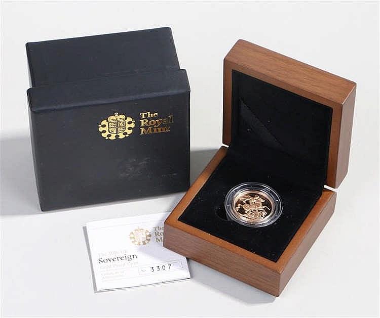 Elizabeth II Proof Sovereign 2010, capsule and cased - Stock Ref:2317-13