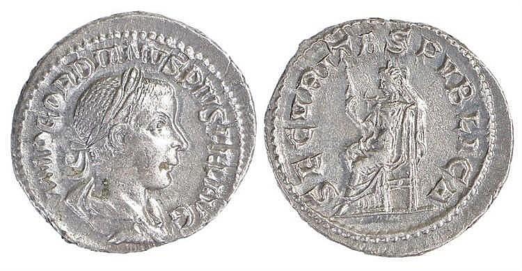 Gordian III Roman Denarius, 238-244 - Stock Ref:4375-6