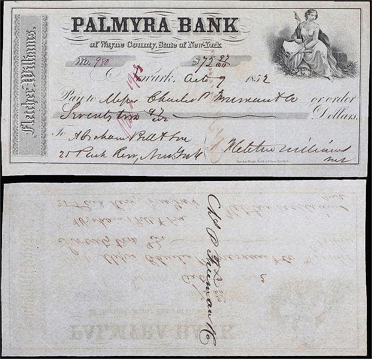 Palmyra Bank, 1852 - Stock Ref:4627-37