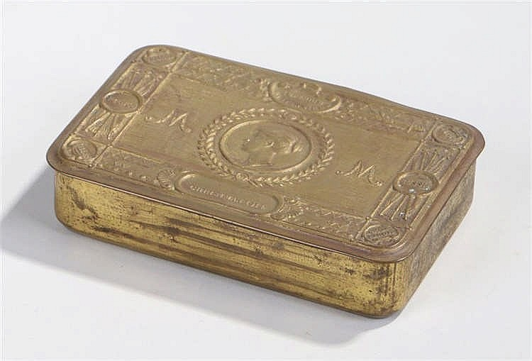 World War One British Princess Mary's Gift Tin Christmas 1914 - Stock Ref:4