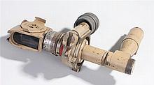 German World War Two artillery gun sight with clear optics, sand paint fini