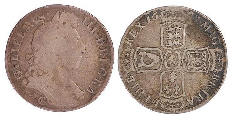 William III Half Crown, 1697 - Stock Ref:2315-42