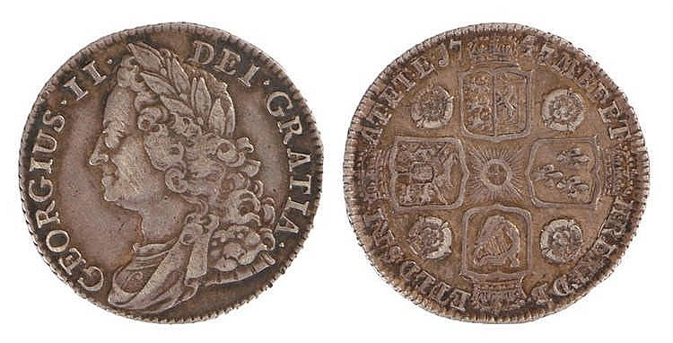 George II Shilling, 1747, Roses - Stock Ref:2315-48