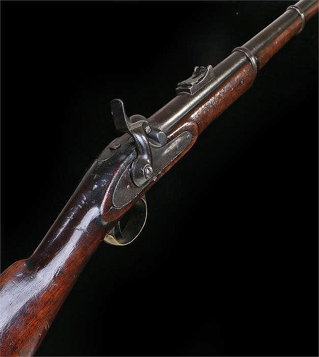 Mid 19th Century Enfield style musket with brass trigger guard with 40202,