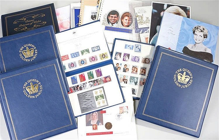 Collection of Royalty related stamp covers, coin covers etc.(qty) - Stock R