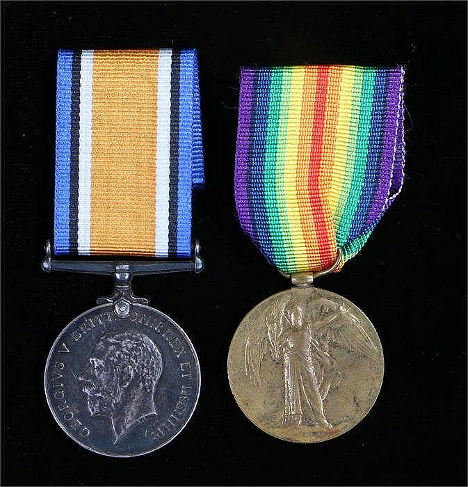 World War One British War Medal & Victory medals to 2282 A.Cpl L.A. Ford Su