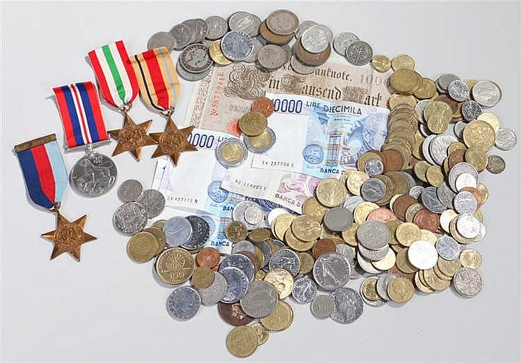 World War Two medals, to include War medal, Africa star, Italy Star and 193