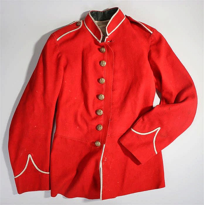 Edwardian soldiers red dress jacket. - Stock Ref:525-113