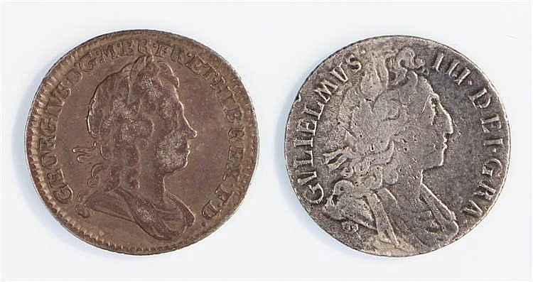 William III Sixpence, 16*7, together with a George I Sixpence 1723, (2) - S