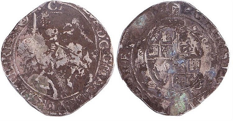 Charles I Half Crown (1625-1649) - Stock Ref:2315-76