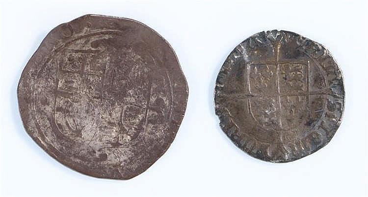 Elizabeth I Groat, together with a Charles I Shilling, (2) - Stock Ref:2315