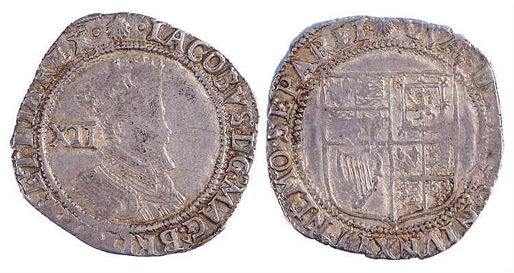 James I Shilling (1603-1623) Second Coinage - Stock Ref:2315-74